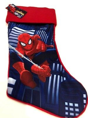 """19"""" Spider-Man  Marvel  Red Blue Christmas Holiday Stocking **BRAND NEW**"""