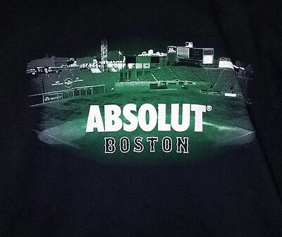 Absolut Vodka Men's LS Tee Shirt - Size XL - Boston Red Sox Fenway Park Baseball