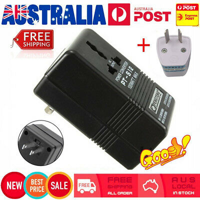 100W Converter Adapter AC 110V/120V to 220V/240V Up Down Volt Transformer + AU F