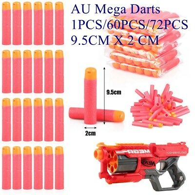 Refill Mega Darts for Nerf N-Strike Elite Mega Blasters Sniper|9.5cm Bullets RED