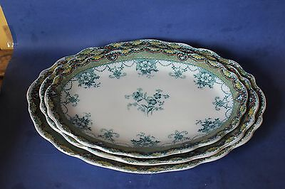 Antique Ford & Sons set of three platters.