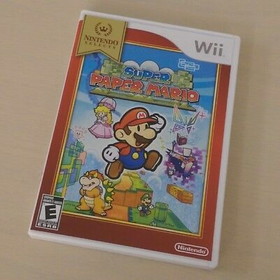 Super Paper Mario (Nintendo Wii) Complete MINT LIKE NEW