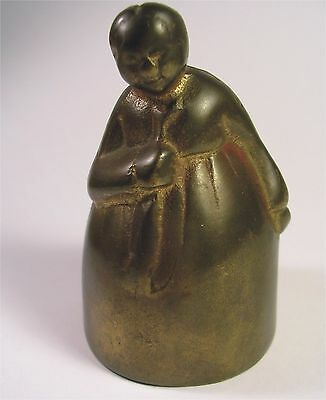 Antique Vintage African American Mammy Jemima Dinner Hand Call Bell Americana