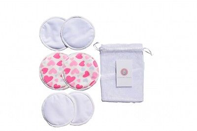 6 Organic Bamboo Reusable Breast Pads Nursing Waterproof Washable Pads