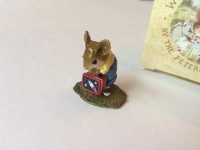 Wee Forest Folk M-347b, HIS NEW LUNCH BOX, Retired - MINT