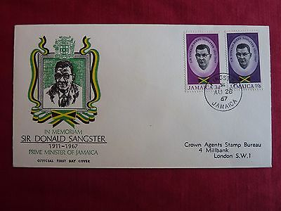 Jamaica First Day Cover - In Memoriam Sir Donald Sangster 1911 - 1967 - Stamps