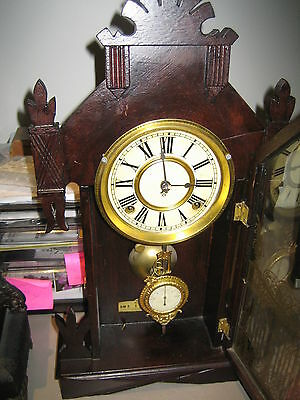 Ansonia Timber Mantle clock Parisian style.