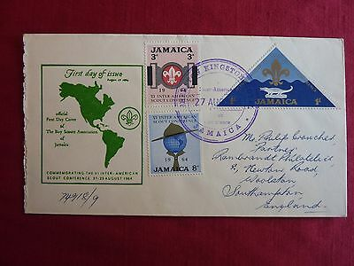 Jamaica First Day Cover - The Boy Scouts Association of Jamaica 27 August 1964