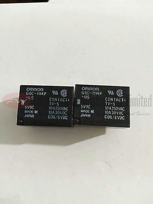 G6C-1114P-US-DC5 General Purpose Relay 10A 5VDC 4 Pins x 2pcs