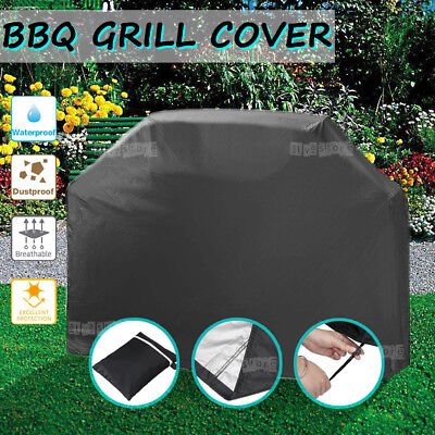 BBQ Cover Waterproof Garden Charcoal Gas Barbecue Grill Protector 145cm 2 Burner