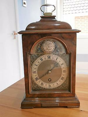 Burr Walnut Eight Day Timepiece Bracket Clock GWO
