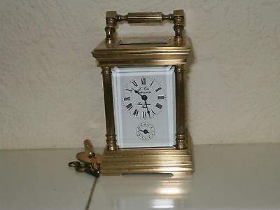 L,epee Miniature Alarm Carrige Clock Serviced and Overhauled