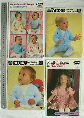BABY Knitting Outfits, Jackets, Shawls, Hats 3, 4 & 8 Ply Choice - 5 Books B4