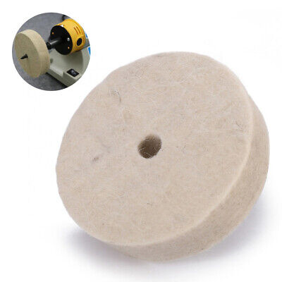 3'' Felt Polishing Buffing Grind Round Wheel Wool Polisher Disc Pad 10x80x22mm