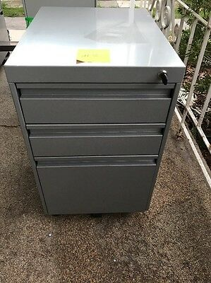 Metal Filing Cabinet Mobile Office Furniture On Wheels #3 With Key