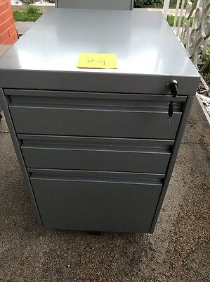 Metal Filing Cabinet Mobile Office Furniture On Wheels #4 With Two Keys
