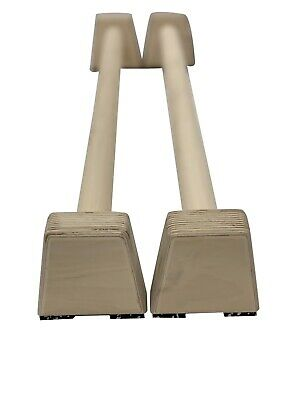 Barbarian Range Long Wooden Parallettes Parallel Bars Made From HARDWOOD