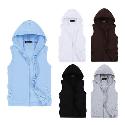 Men's Sportswear Sleeveless Hoodies 1Pcs Size M-5XL Men's t shirt Hip Hop Hoodie