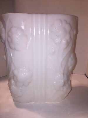 Consolidated Phoenix Glass Pillow Vase Cosmo Flowers Milk Glass