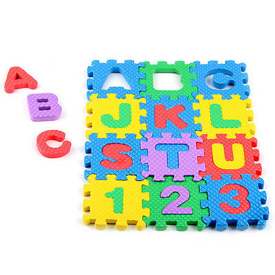 Mini 36pcs EVA Puzzle Kid Toy Alphabet Letters Numeral Foam Mat Education Toys