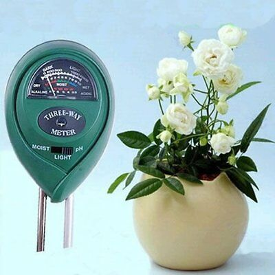 3 in1 Flowers Plant Soil PH Tester Moisture Light Meter hydroponics Analyzer DQ