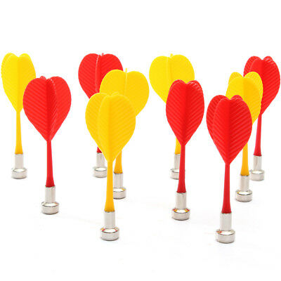 5pcs Red + 5pcs Yellow Magnetic Darts Sets for Two-Sided Magnetic Dart Board UK