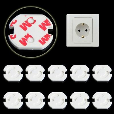 New 10pcs EU Electric Shock Plugs Outlet Cover Home Baby Child Safety Protector