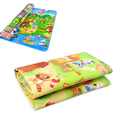 2M*1.8M Baby Crawl Play Mat Kids Foam Puzzle Game Blanket Picnic Rug Waterproof