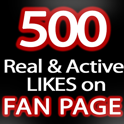 0,5K || 500 facebook page-likes || HQ | Fast | Safe | 6-12HOURS