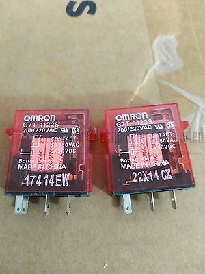 G7T-1122S AC200/220V Block Relay 1A 4 Pins x 2pcs