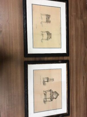 A Pair Of French Antique Furniture Pictures. New
