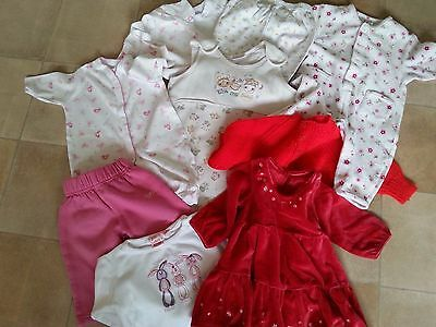 Bundle Baby Girls Clothes ( 0-3 Months )
