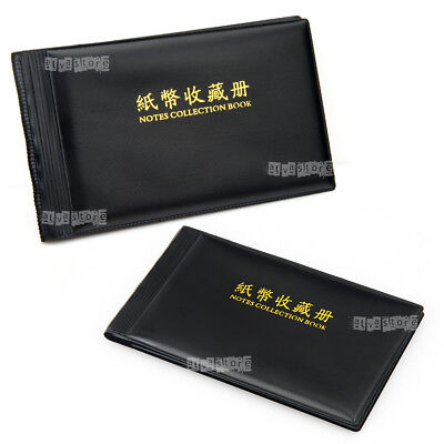 Banknote Currency Collection Album Paper Money Pocket Holders 40 Notes Stock