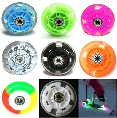 LED FLASH WHEEL MINI or MAXI MICRO SCOOTER FLASHING LIGHTS BACK REAR ABEC-7 80mm