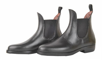 HKM Soft Short Black Ladies/Mens/Kids Horse Riding Jodhpur Boots - Elasticated