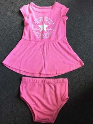 Converse Baby Girls Skater Dress With Knickers 3-6 Months