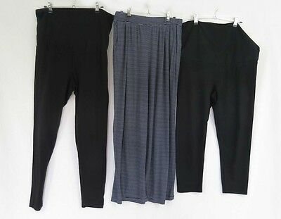 Three Pairs of Maternity Stretch Pants - Size 14-16