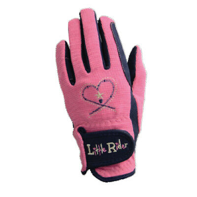 NEW! Little Rider - Equestrian Riding Star Children's Riding Gloves - Rose/Navy