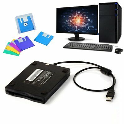 1.44Mb 3.5 USB External Portable Floppy Disk Drive Diskette FDD for Laptop DQ