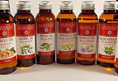 100% Natural cold pressed vegetable oil, base carrier oils extracts massage