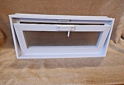 Glass Block Window Vent Double pane Insulated Glass 18 x 8 x 3