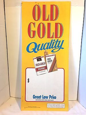 """Old Gold Cigarettes Advertising Store Sign - Rare - 30"""" x 13"""""""