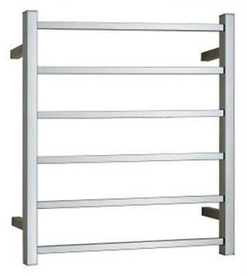 NEW 6 Square Bars Heated Towel Ladder