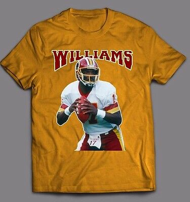 Doug Williams Throwback Shirt *redskins Oldskool Artwork **full Front Of Shirt**