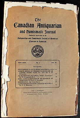 Canadian Antiquarian and Numismatic Journal ser 3 vol 11 no 2
