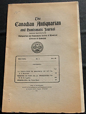 Canadian Antiquarian and Numismatic Journal ser 3 vol 11 no 4