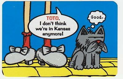 "Wizard of Oz ""TOTO, I Don't Think We're in Kansas Anymore!...GOOD"" Playing Cards"