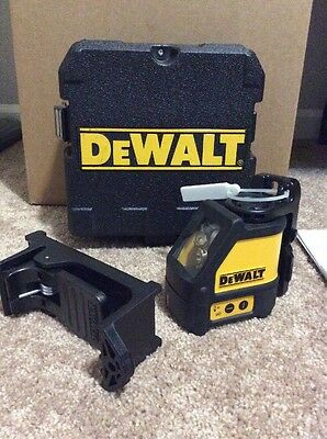 Dewalt Dw087 Self-Leveling Red Laser Chalk Line Horizontal And Vertical Preowned