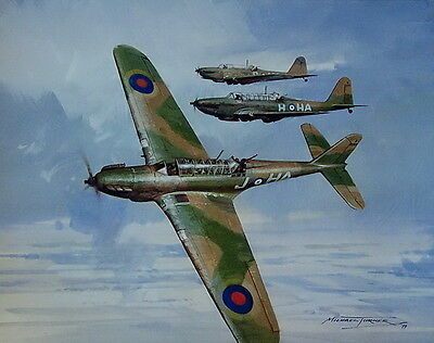 Fairey Battle Giclee Print Signed By Michael Turner Battle Of France 1940