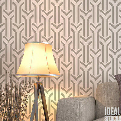Art Deco Wall Painting STENCIL Arches Pattern Home Decor Wallpaper Craft Decor